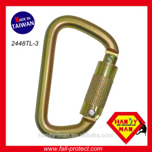 Arrêt d'arrêt Fabricant CE EN362 Steel Classic D Large Lock Safe Mousqueton