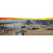 Ancrages de fondation solaire