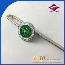 Factory custom logo stamp casting metal bookmark