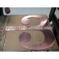 Coupe de matériel réflectif découpage jet d'eau polie découpe en acier inoxydable