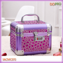 Purple Metal Makeup Box Designer Makeup Case Set (SACMC072)