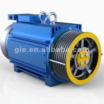 630kg, 1.0m / s Íman Permanente Motor Elevador Synchronous Gearless