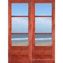 Preço de porta de madeira contínua moderna interior da teca