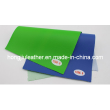 Green and Blue Litchi Pattern Car Interior PVC Leather