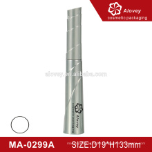 Silver color empty wholesale eyelash tube, plastic mascara tube containers