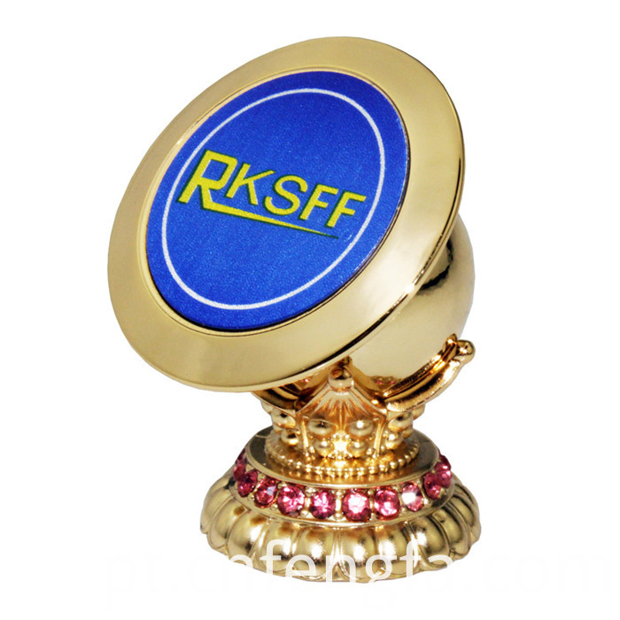 Magnetic Mobile Phone Holder With Diamond Gold