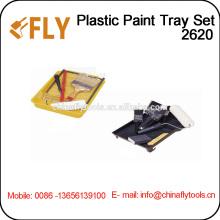 Plastic Paint Tray Set roller brush