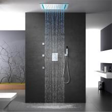 50x36cm LED Shower Head Ceiling Bathroom Shower Faucet
