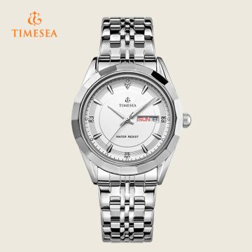 Mens Steel Display Analog Quartz Watch Montre à poignet Regarder72370