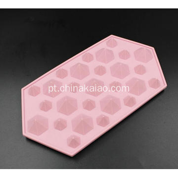 Silicone Diamond Form Bandejas de gelo Cube Mold Kitchen Tool