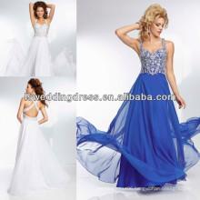 HE2097 Blue chiffon with crisscross back fairy prom dresses