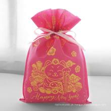 Presente da embalagem do saco do ano novo da fortuna gato Rediance