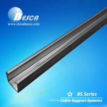 Stainless steel plain solid C steel channel OEM unistrut channel