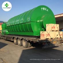 O Projeto Integrado Usado / Resíduos de Pneus / Pneus / Pirólise de Reciclagem de Plástico Para a Planta de Óleo Vendida para 44 Países