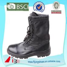 Balck scharfe echtes Leder militärische Stiefel für Armee