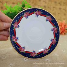 Plaque de compartiment de mélamine de vente chaude de porcelaine