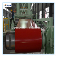 Vorgefertigte GI-Stahlspule / PPGI / PPGL / farbbeschichtetes verzinktes Stahlblech in der Spule