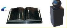 Black Granite Stone Book Carving Headstone