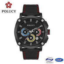 Luxury Men Carbon Fiber Watch with Genuine Leather