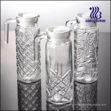 1L Engraved Glass Jug / Pitcher with Carved (GB1101ZS)