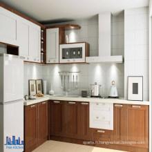 Armoires de cuisine à finition en PVC Brown Brown