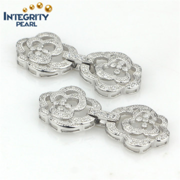 Elegant Big Flower 925 Sterling Silver Necklace Clasp Jewelry