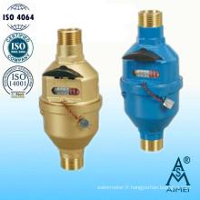 Compteur d'eau volumétrique à Piston rotatif Type humide en laiton