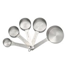 5 piezas de tazas de medir para hornear de acero inoxidable