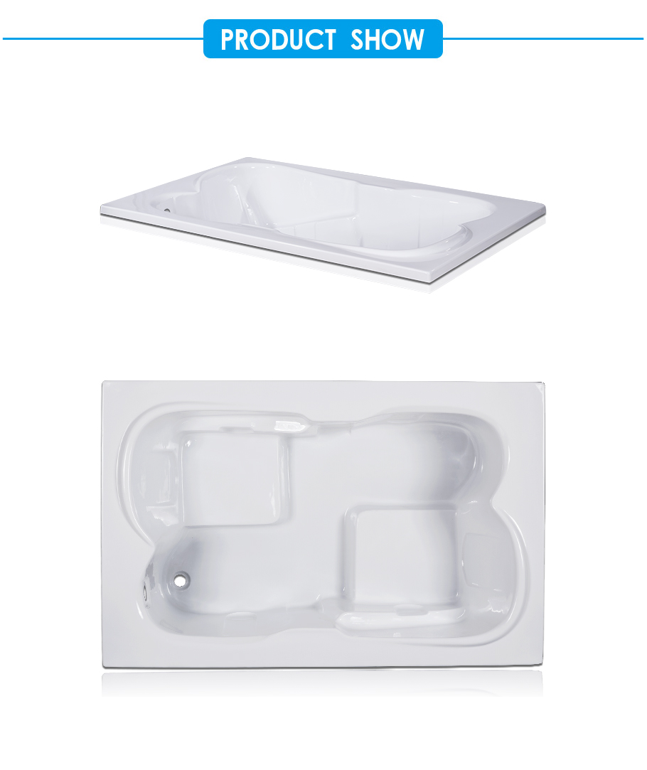Acri Big Drop-in Bathtub for Two Persons