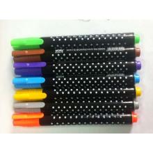 Caneta marcador colorida para artigos de papelaria da escola