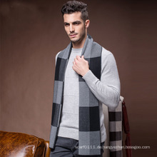Männer Mode Winter Wolle Nylon Acryl Woven Warm Schal (YKY4602)