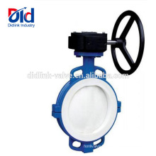 3 Inch Rubber Seal Viton Seat Stainless Steel Tomoe Lug Type Ptfe Lined Wafer Butterfly Valve Gear