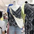 100% хлопок принт ткань сток женское платье
