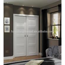 4 portas internas do estilo do abanador branco do painel, porta do vestuário