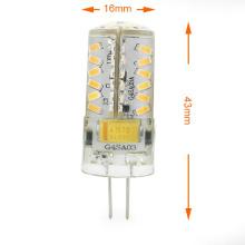 Mini G4 3W LED Corn Light 57X 3014 SMD LEDs lâmpada bulbo AC / DC 12V em branco quente / branco frio lâmpada de economia de energia