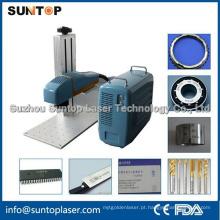 Máquina de impressão a laser da cor de 20W Mopa / máquina de impressão do laser para a liga