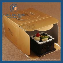 Golden Color Printing Handling Kraft Cake Box (CMG-cake box-008)