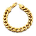 Gold Plated 316L Stainless Steel Link Chain Stylish Necklace And Bracelet Set Men Jewelry Sets