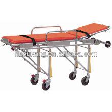 Medical stretcher bed with adjustable backrest
