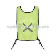 Chalecos reflectantes uniformes de trabajo de alta visibilidad con cintas 3M, chalecos norma ENISO 20471