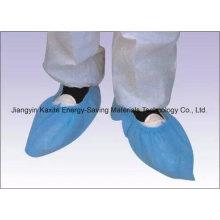 Couverture antidérapante imperméable jetable de chaussure de l'hôpital jetable PP / PE / CPE Kxt-Sc26