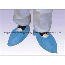 Disposable Hospital Non-Woven PP/PE/CPE Waterproof Anti-Skid Shoe Cover Stock Kxt-Sc26