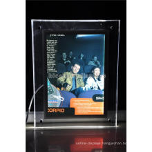 Retail Store Simple Electoric Lighting Advertising Table Top Small Size Portable Signage Display