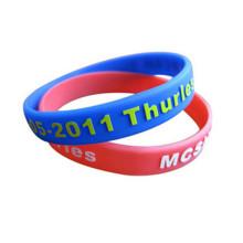 Bracelet en silicone imprimé de logo de relief pour la promotion