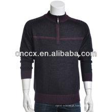 13STC5530 pulôver metade-zip suéteres de cashmere mens