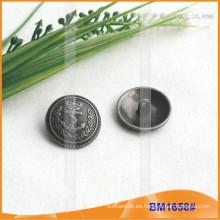 Botón de aleación de zinc y botón de metal y botón de costura de metal BM1658