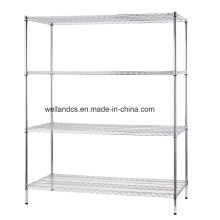 Heavy Loading Einstellbare Chrom Metall Gewebe Wire Storage Rack Regal