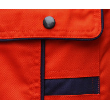 Naranja de poliéster algodón tela cruzada tela uniforme