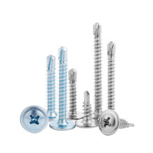 M4.2 M4.8 Round Washer Head Roofing Screw 410 SS Pan Wafer Head Self Drilling Screw