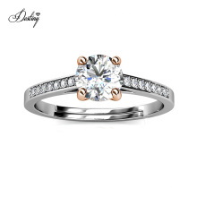 2021 New Delicate Jewelry 925 Sterling Silver 1 Carat Gra Moissanite Diamond Eternity Ring Wedding Band